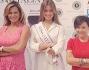 Le tre donne di Miss Italia: Simona Ventura, Miss Italia 2013 Giulia Arena e Patrizia Mirigliani