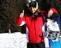Valentino Rossi con il suo snowboard