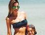 Aida mamma in formissima con il piccolo Aaron Diaz