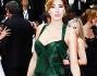 Aida Yespica bellissima in abito verde bosco con spalline e pailettes che ha messo in risalto la figura della showgirl
