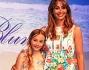 Benedetta Parodi con la piccola Eleonora modella per Miss Blumarine