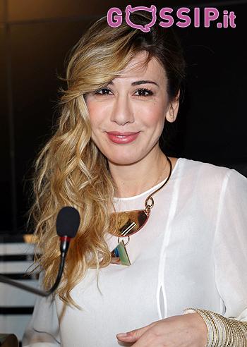 Virginia Raffaele durante la conferenza stampa di Sanremo 2016