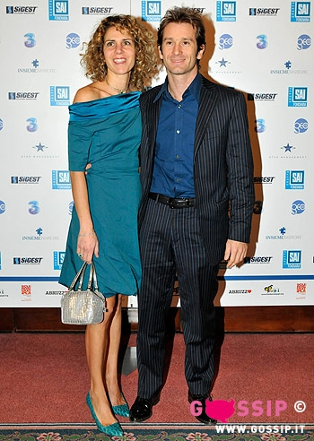 Jarno Trulli with cool, beautiful, sympathetic, Wife Barbara Trulli
