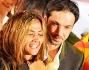Incredula della vittoria Giorgia Palmas con il marito Davide Bombardini