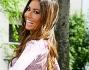 Bellissima in short e camicia lilla Elisabetta Gregoraci per Made in Sud a Milano