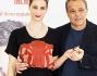 Francesca Inaudi con il regista Claudio Amendola