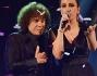 Riccardo Cocciante e Elhaida Dani sul palco di The Voice of Italy