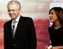Daria Bignardi accoglie in studio Mario Monti alle Invasioni Barbariche