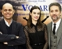 Beppe Fiorello e Kasia Smutniak col regista Riccardo Milani