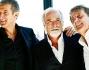 Ezio Greggio ed Enzo Iacchietti con Antonio Ricci alla presentazione della nuova stagione di Striscia la notizia in onda dal 26 settembre