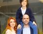 Checco Zalone e Miriam Dalmazio con il piccolo protagonista Robert Dancs