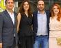 Checco Zalone e Pietro Valsecchi con Miriam Dalmazio e Aurore Erguy