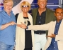 Carlo Conti con Christian De Sica, Loretta Goggi e Claudio Lippi