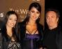 Leila Ben Khalifa con Alessandra e Saverio Moschillo