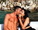 Cristiano Ronaldo in Grecia con Georgina