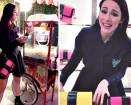 Aurora Ramazzotti presenta la sua borsa Trussardi