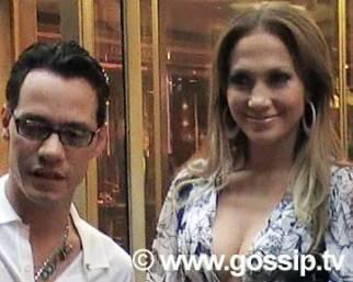 Paparazzata: Jennipher Lopez e Marc Anthony a Roma