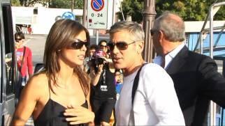 Esclusiva GossipNews: Clooney e Canalis arrivano insieme a Venezia