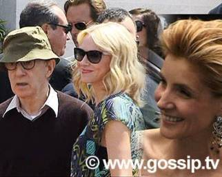 Woody Allen a Cannes con Naomi Watts