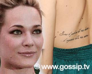 Laura Chiatti, il suo pensiero in un tatuaggio
