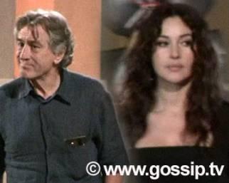 Bellucci e De Niro insieme sul set