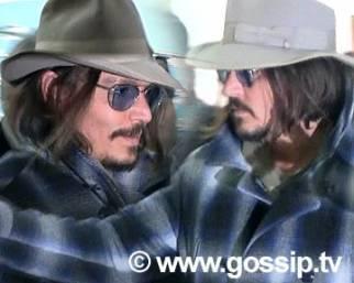Johnny Depp arriva a Roma