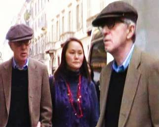 Woody Allen e Soon Yi, romatica Milano