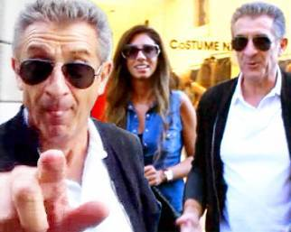 Ezio Greggio, shopping con Simona Gobbi