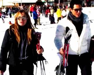Lory, con Michael che bello sciare!
