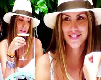 Nina Senicar, relax con le amiche