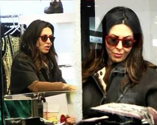 Sabrina Ferilli, shopping in centro