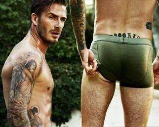 Beckham di nuovo in mutande