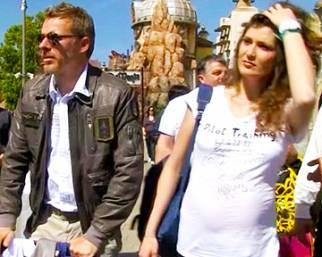 Kaspar Capparoni con Veronica e Alessandro a Rainbow Magicland