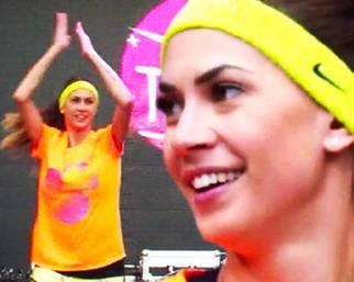 Melissa Satta, fitness prima del 'running'