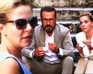 Claudia gerini, incontro ravvicinato con Marco Giallini
