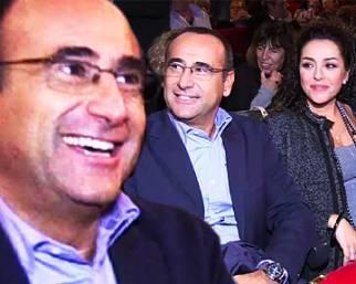 Carlo Conti e Francesca Vaccaro incinta a teatro