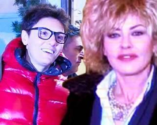 Eva Grimaldi, mondanamente casual con la Battaglia