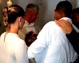 Melissa Satta e Kevin Prince Boateng hanno battezzato Maddox