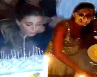 Il compleanno di Belen finisce a torte in faccia