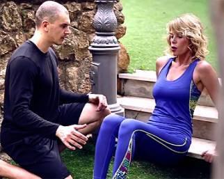 Alessia Marcuzzi a tutto fitness