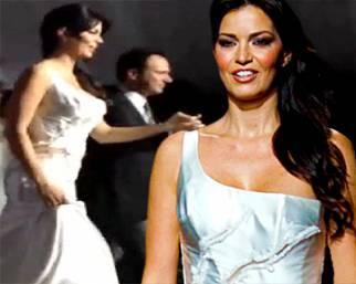 Laura Torrisi, una sposa bellissima, ma solo in passerella
