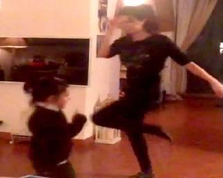 Laura Torrisi, momento dance con Martina