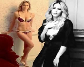 Elena Santarelli, in lingerie ancora una volta per Infiore