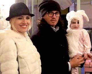 Marcelo Fuentes e Sofia Bruscoli con la piccola Nicole