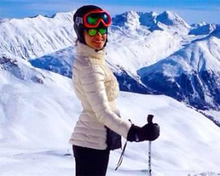 Laura Barriales, St. Moritz con la famiglia è super