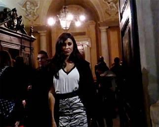 Belen Rodriguez protagonista alla sfilata di Fausto Puglisi