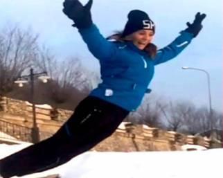 Carolina Marcialis, snowboard, amore e fantasia con Cassano