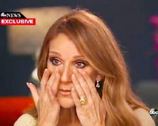 C�line Dion in lacrime per il marito malato di tumore