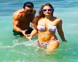 Lola Ponce, con Aaròn a Miami Pasqua a mollo