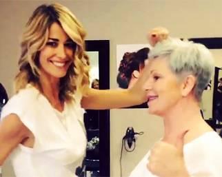 Elena Santarelli, in un'altra vita parrucchiera...